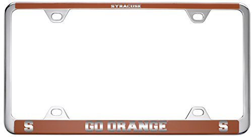 Syracuse University-Metal License Plate Frame-Orange by LXG, Inc.