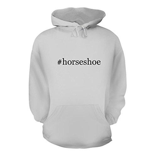 #horseshoe - A Nice Hashtag Men's Hoodie Hooded Sweatshirt, White, Large from Shirt Me Up