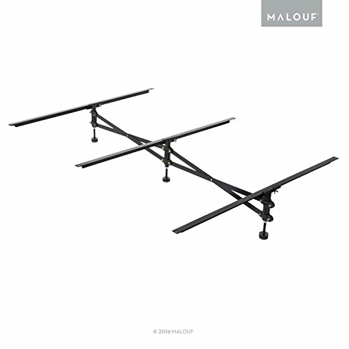 MALOUF Structures Adjustable Center Support System for Bed to Replace Wooden Bed Slats - Universal Size Adjusts from Full to King - Adjustable Leg Height from MALOUF