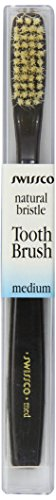 Swissco Tooth Brush Tortoise Natural Bristle, Medium, 3-Count Pack (Tortoise Natural)