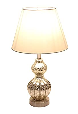 "Tone Silver 18"" High Decorative Glass Design Table Lamp Desk Lamps"