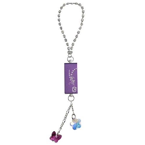 - Viewquest Intelligent Jewellery 8GB USB Flash Drive Keyring Charm - Purple