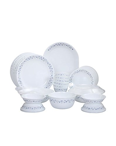 Corelle Lilac Blush Glass Dinner Set 30-Pieces White and Blue  sc 1 st  Amazon.in & Buy Corelle Lilac Blush Glass Dinner Set 30-Pieces White and Blue ...