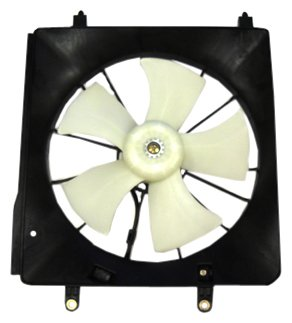 Acura Tsx Condenser - TYC 600940 Acura TSX Replacement Radiator Cooling Fan Assembly