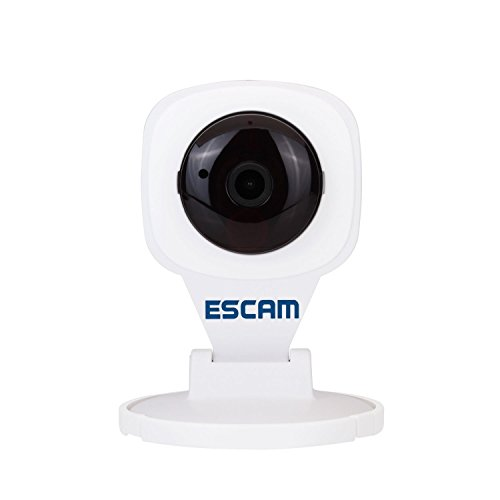 TuoP ESCAM [QF506] Mini 1/4 CMOS H.264 1.0MP 2.8mm P2P IP Network Surveillance Camera Wireless WiFi Support Android IOS with IR-CUT Night Vision ONVIF Watching Cloud Technology Security Camera (white)