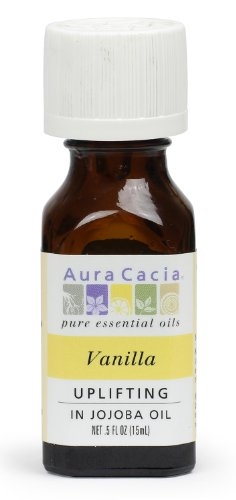 Price comparison product image Aura Cacia Essential Oil, Uplifting Vanilla, 0.5 fluid ounce