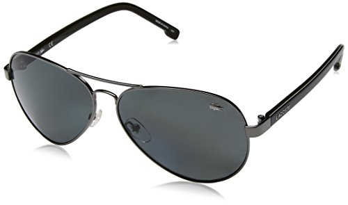 Lacoste L163sp Polarized Aviator Sunglasses, Grey, 62 - Lacoste Sunglass