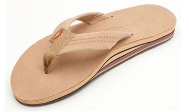 Colors of Rainbow Rainbow Mens Double Layer Premier Leather with Arch Support Sandal