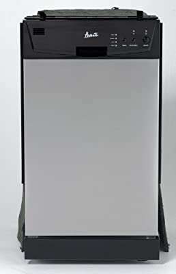 "Avanti DW18D3SE Built In Dishwasher, 18"", Stainless Steel"