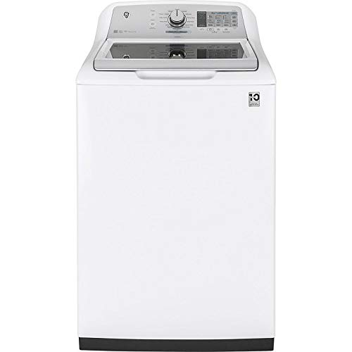 GE GTW750CSLWS Washer with Stainless Steel Basket, 5.0 Cu. Ft. Capacity, 13 Cycles with Water Station, White, - Ge Washing Machine