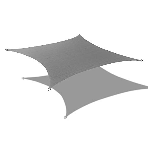 - Alion Home 10' x 13' Waterproof Curved Edge Woven Polyester Sun Shade Sail (Grey)