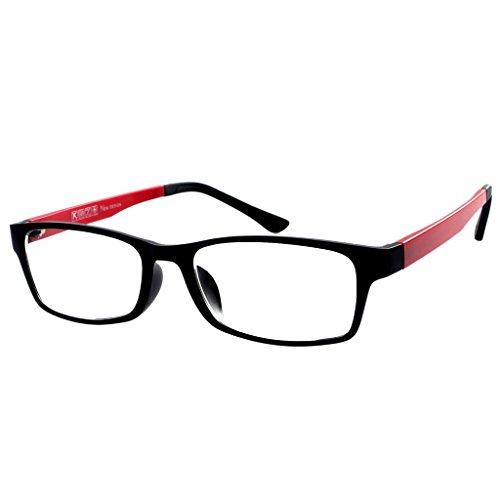 Photochromic Gray Lens -3.25 Myopia Red Frame Unisex Glasses *These are not reading - Photochromic Prescription Glasses
