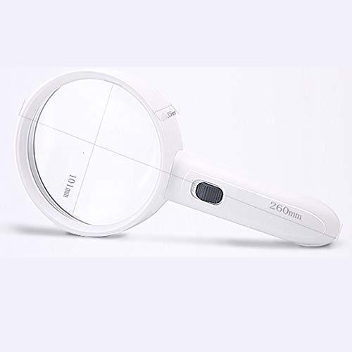 QYSZYG Handlupe mit Lampe 20-mal 30-Fach Alter Alter Alter Mann liest tragbaren hochauflösenden optischen Vergrößerungsspiegel 21dcfa