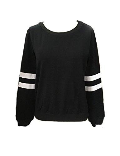 PERSUN Womens Casual Striped Sweatshirt product image