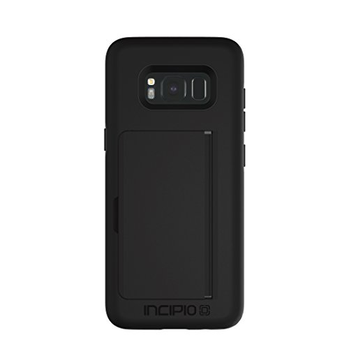 Incipio Technologies Samsung Galaxy S8 Stowaway Credit Card Hard Shell Case with Silicone Core - Black from Incipio