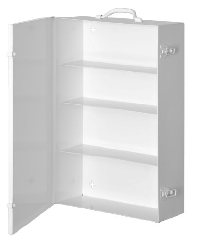 Durham 535-43 White Cold-Rolled Steel 11FX Industrial Empty First Aid Cabinet, 15'' Width x 22'' Height x 5-9/16'' Depth, 4 Shelves by Durham