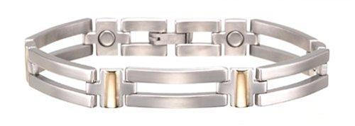 ve Crossbar Duet Magnetic Bracelet, Size L (Duet Magnetic Mens Bracelet)