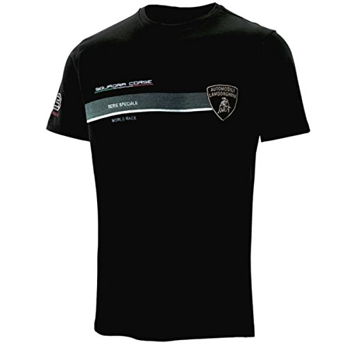 Lamborghini Squadra Corse Pilota Black Tee Shirt - Corse Michael
