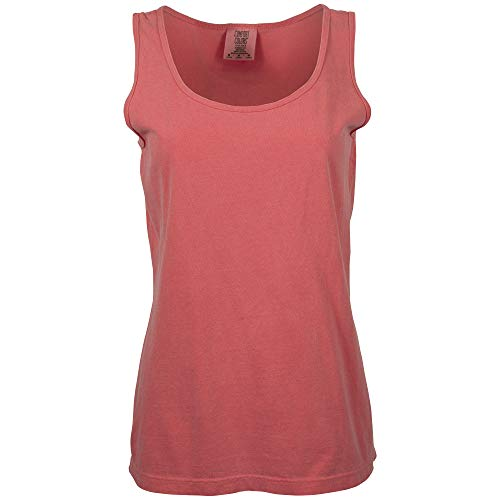 Comfort Colors Women's Ultra Soft Cotton Tank Top, Style 3060L, Watermelon, Large from Comfort Colors