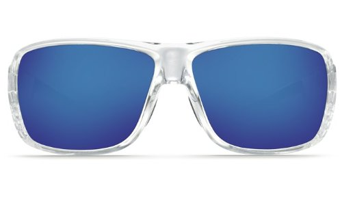 0122c2f2dc7 Amazon.com  Costa Del Mar Double Haul 580G Polarized Sunglasses in Crystal    Blue Mirror Lens  Clothing