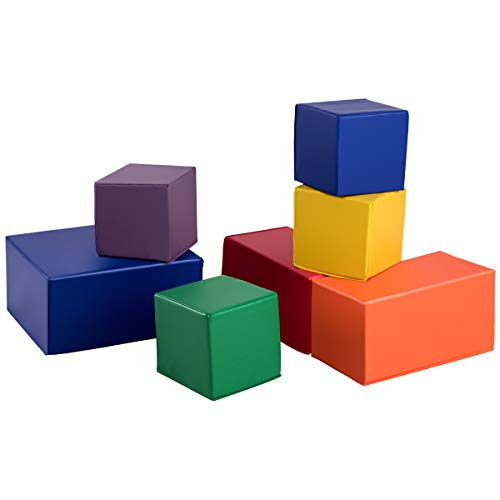 - Costzon Soft Blocks, Big Foam Building Blocks, Premium PU Leather Stacking Play Set Learning Toys for Toddlers, Baby, Kids, and Preschool (7-Piece)
