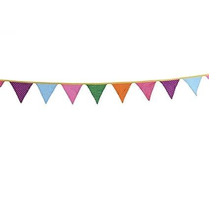 Amazon.com: Banderines de tela de algodón para decoración de ...