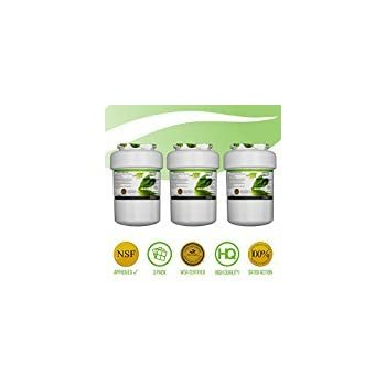 GE MWF SmartWater Refrigerator Water Filters | KENMORE Refrigerators Compatible Replacement Cartridges | NSF CERTIFIED Lead Free, MSWF, MWFA, MWFP, GWF, GWFA, HDX FMG-1, 469991 | 3 Pack | By PureGreen