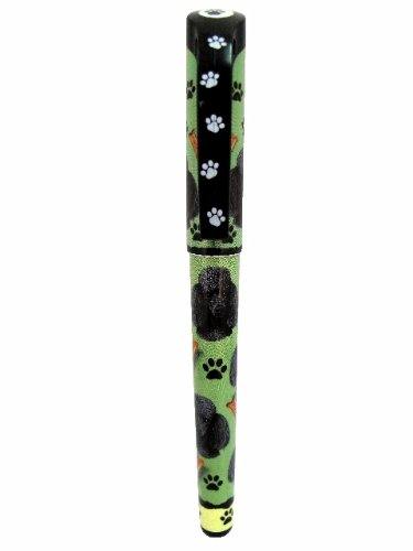 Black Poodle Pen Easy Glide Gel Pen, Refillable With A Perfect Grip, Great For Everyday Use, Perfect Black Poodle Gifts For Any Occasion (Poodle Pen)