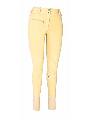 (TuffRider Women's Cotton Lowrise Wide Waistband Breeches (Long), Light Tan,)