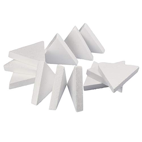 (Craft Foam - 12-Count Triangle Shaped Foam Sculpture, Polystyrene Foam Shapes for Craft, Craft Supplies for DIY Arts and Crafts Projects, Kids Art Class, 6 x 1 x 5.2)