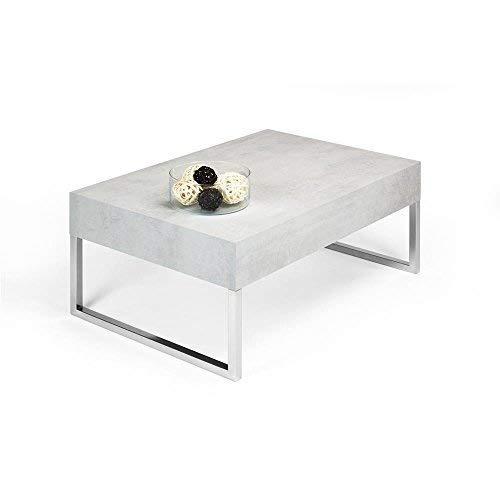 Mobili Fiver, EVO XL Mesa Auxiliar de salon, Madera, Cemento, 90 x 60 x 40 cm