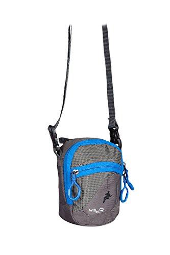 Milo Unisex Ocus Shoulder Bag, Grey/Blue, One Size