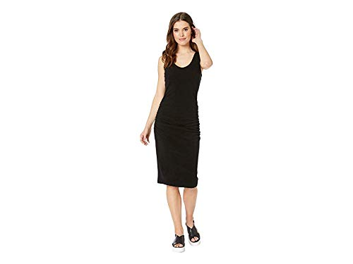 (Michael Stars Women's Pebble Knit Cora Sleeveless Ruched Dress, Black, Medium)