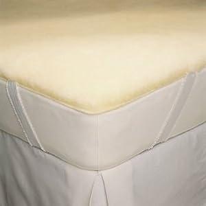 snugfleece snugsoft deluxe wool mattress topper pad cover queen size 60 x 80