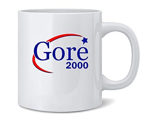 2000 Ceramic Mug - Al Gore For President Campaign Election 2000 Retro Coffee Mug Tea Cup 12 oz