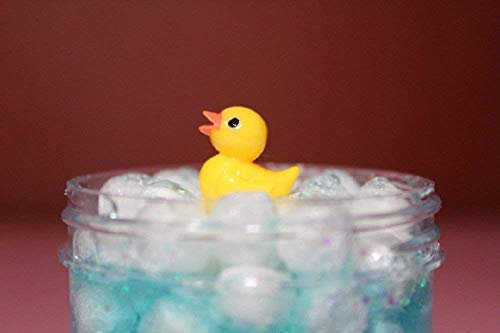 Bubble Bath 4oz - Scented Marshmallow Bead Floam Slime with Glitter and Charm from Samantha's Slime Shop