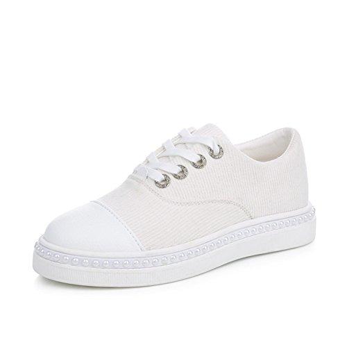 Ladys Weiße Schuhe Auf Einem Dicken Leinwand,Autumn Leisure Shoes,Hundred Port Wind Board Schuhe,Street Schläger Sneakers A