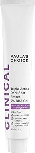 Paula's Choice CLINICAL Triple-Action Dark Spot Eraser 2% BHA Gel, Salicylic Acid & Hydroquinone, Hyperpigmentation & Skin Lightening, 1 Ounce