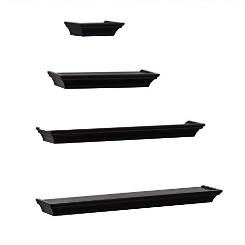 Review Joveco Decorative Wood Wall Shelves For Home Art Decor Great By Joveco by Joveco