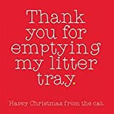 Thank you for emptying my litter tray - Humorous Christmas Card by The Fat Bloke Cometh