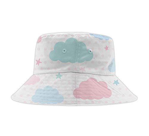 Unisex Cotton Packable Summer Travel Bucket Beach Sun Hat Cute Cartoon Avocado