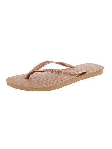 - Havaianas Women's Slim Flip Flop Sandal, Rose Gold 37/38 BR (7-8 M US)