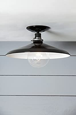 14in Black Metal Shade Ceiling Light - Barn light
