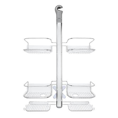 (OXO Good Grips Stainless Steel Shower Caddy with Hose Keeper for Handheld Shower Heads )