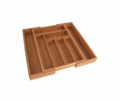 Totally Bamboo Expandable Drawer Organizer, 8 Compartments, 2 with Adjustable Dimensions, Beautiful and Durable Bamboo from Totally Bamboo
