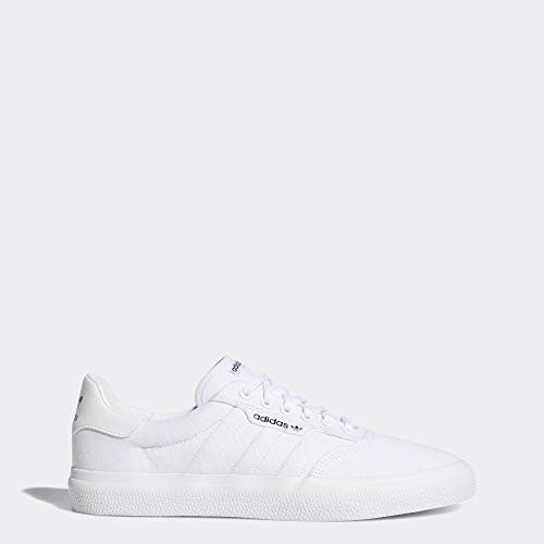 adidas Originals 3 MC Skate Shoe, White/White/Gold Metallic, 10.5 M US