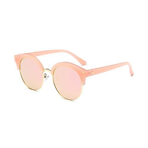 de Powder Box marée Cadre Générique Lunettes Soleil Lunettes polarisées Blue personnalité Pink UV Femmes Couleur Sunglasses Avant Blue Lunettes Anti Soleil Couple de Demi Box Visage Garde F0B0Tq
