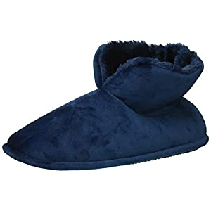 Dearfoams Women's Solid Velour Bootie Slipper