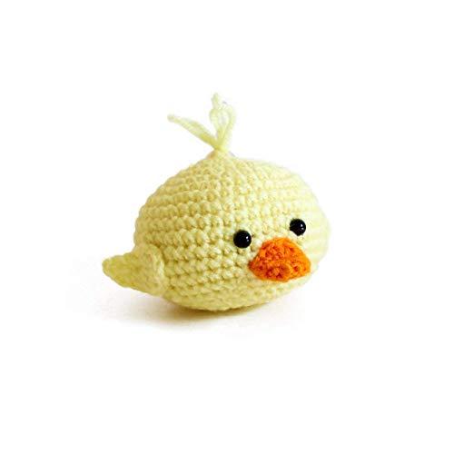 Handmade amigurumi crochet duck stress ball by Geekirumi! - Squeeze anti stress/anxiety - Hand therapy toy