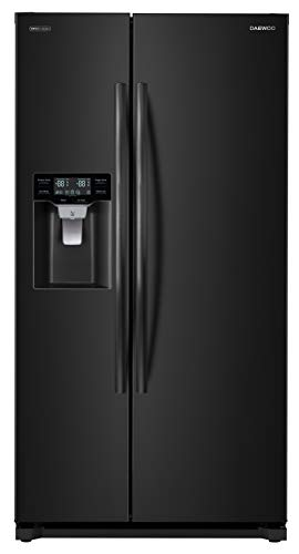 Daewoo FRS-Y22D2B Side Refrigerator, Black, includes delivery and hookup